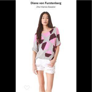 Diane Von Furstenberg Zita Intarsia Sweater.
